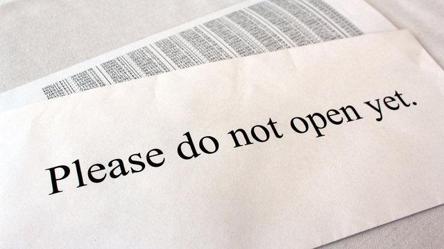 Please do not open yet
